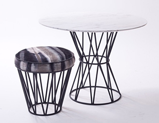 Drummin Zulu Dining Table and Stool by Douglas & Douglas